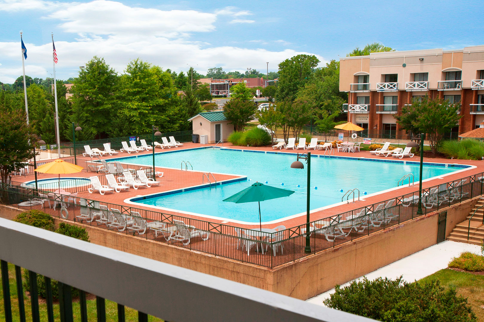 Pool area at Fredericksburg Hospitality House and Conference Center