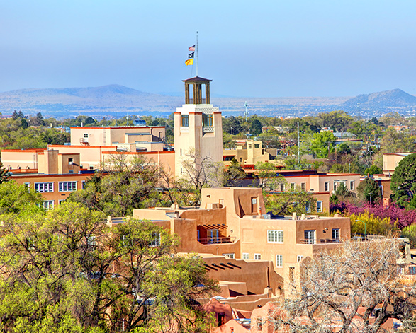 view of downtown santa fe new mexico