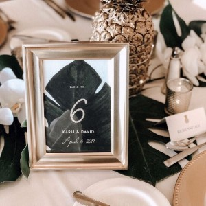 a table setting for a wedding reception