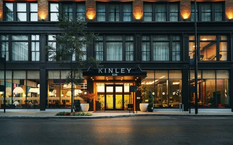 kinley front entrance in the evening