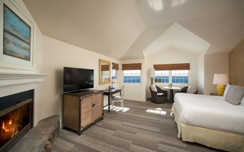 a guest room with ocean views