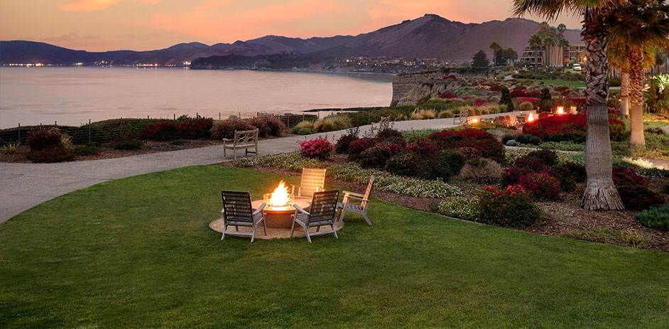 outdoor firepits with a view of ocean
