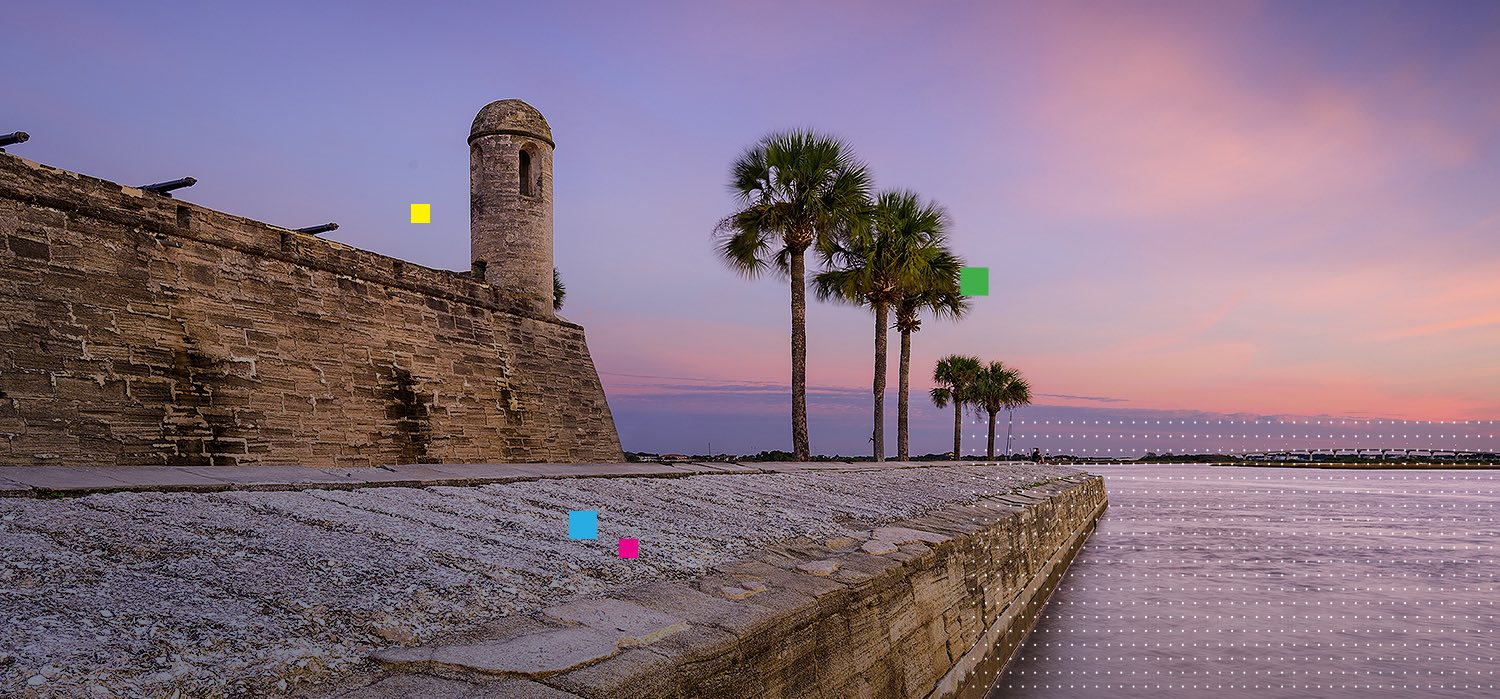 St Augustine fort at dusk
