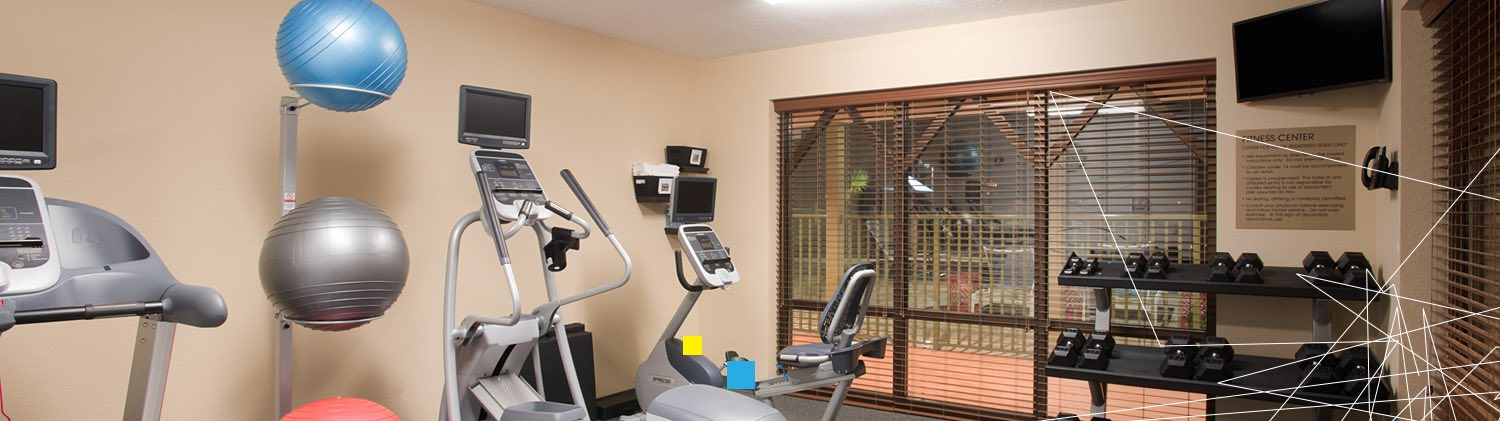 Fitness Center with work out equipment