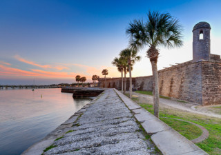 st augustine fort at sunset