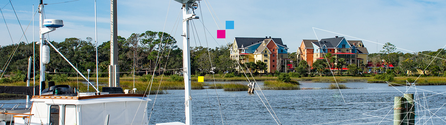 view of TRYP St. Augustine from the water