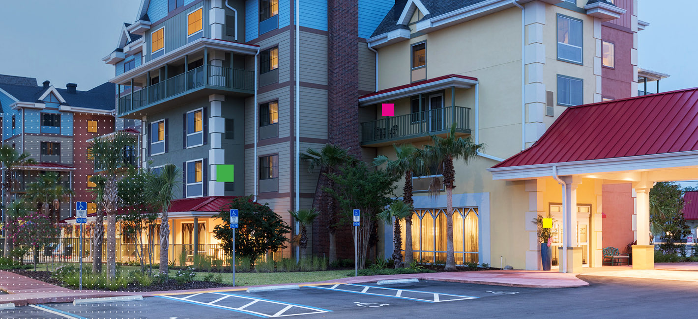 A view of the exterior of TRYP St. Augustine