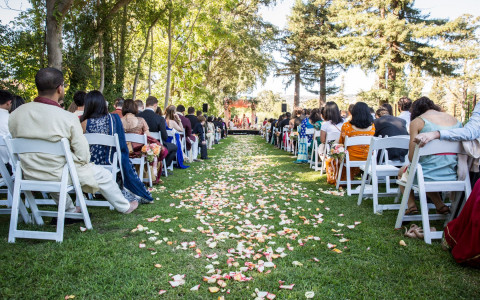 Beautiful outdoor Indian wedding ceremony at Napa Valley's very own Silverado Resort