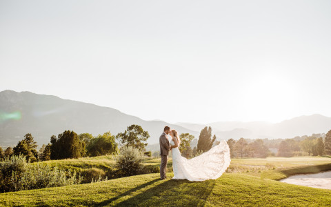 Cheyenne Mountain Resort Wedding in Colorado Springs Kipp golf course