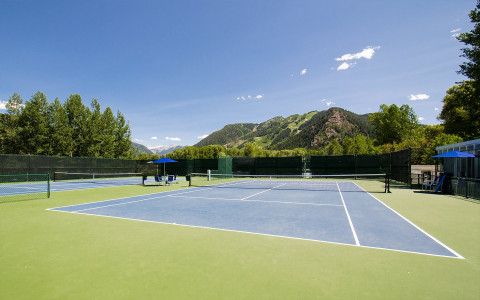 Five onsite tennis courts
