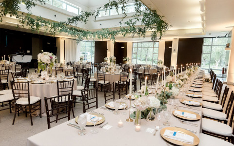 Wedding setup with chairs and tables