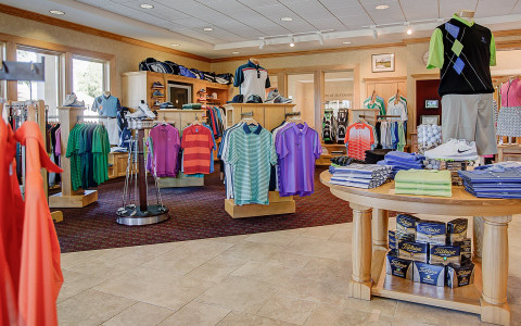 Stocked with high-quality apparel, our Golf Shop stands ready to help you look your best when you hit the links.