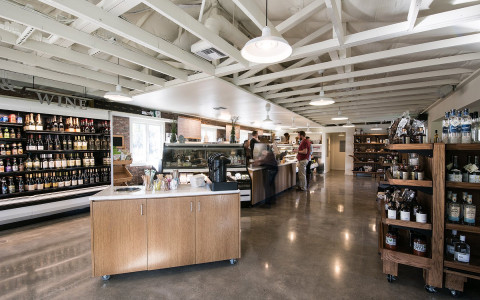 In addition to homemade snacks, The Silverado Market & Bakery sells a selection of craft beers, spirits, and Napa Valley wines.