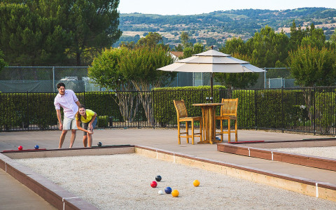 Enjoy some friendly competition on one of our three regulation-sized bocce courts.