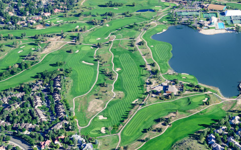 Resort Aerial golf course lake