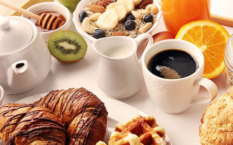 delicious breakfast food assortment