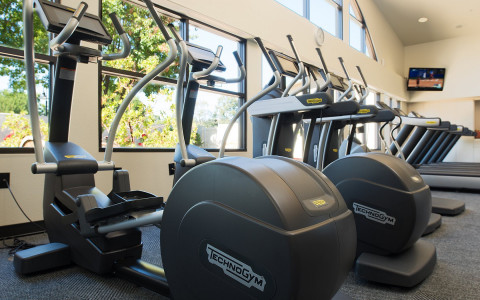 TechnoGym elliptical located at the Spa fitness center.