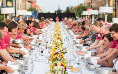entrance to the H Hotel in Midland, Michigan