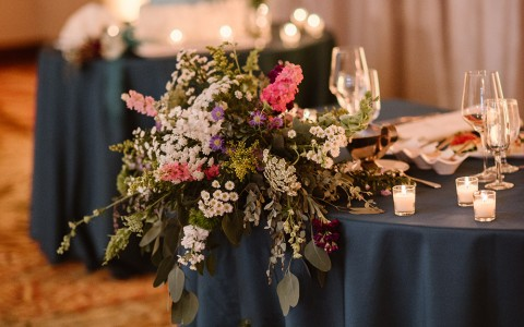 Elizabeth Ann Photography - Centennial ballroom wedding table set
