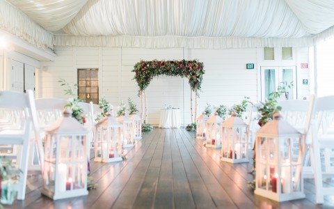 Lovely ceremony setup located on the beautiful Fairway Deck