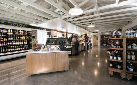 inside the market at silverado that serves wine bottle beer starbucks coffee baked goods and more