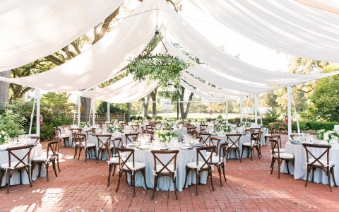 Stunning wedding reception setting out on The Grove on a sunny day, JBJ Pictures