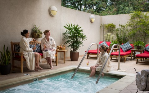 Resort guests spending time at Spa Silverado for a weekend ladies getaway