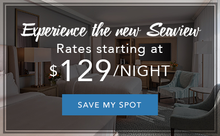 experience the all new seaview with rates starting at $129/night