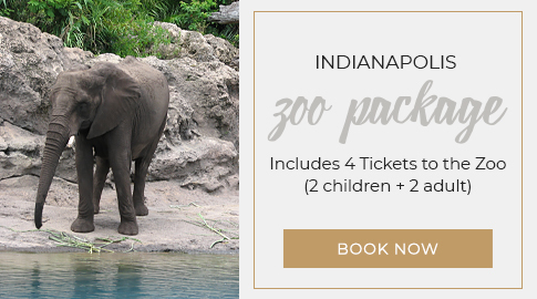 Indianapolis zoo package includes 4 tickets to the zoo book now