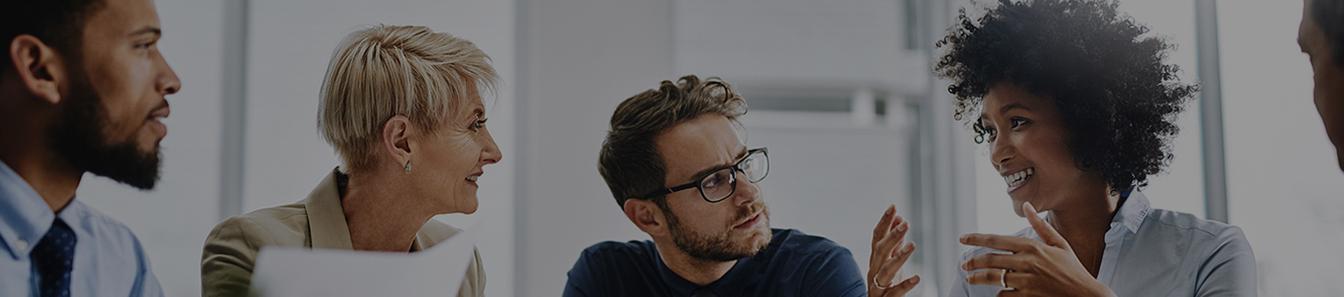 a man thinking during a meeting