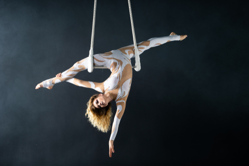 female acrobat in circus
