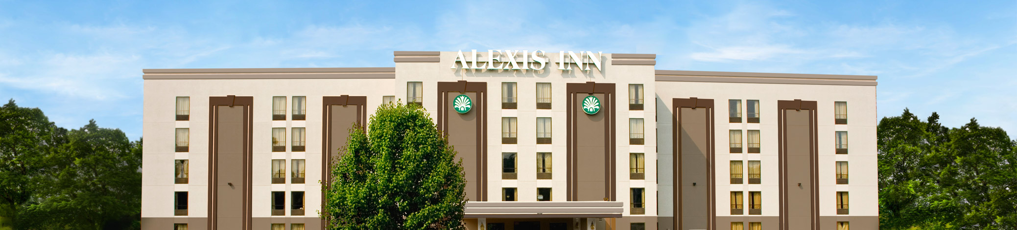 Hotel building with Alexis Inn sign