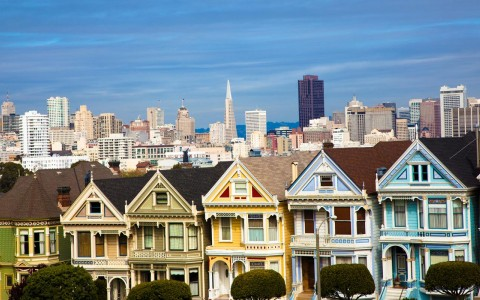 famous painted lady houses of San Fransisco