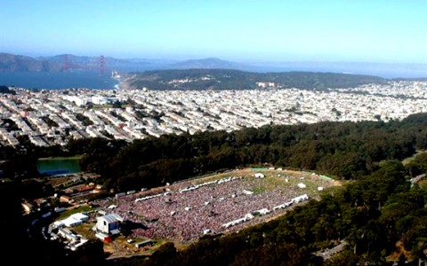 outside lands festival arial shot