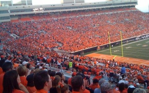 Oklahoma State University Football Game Sold Out Stadium