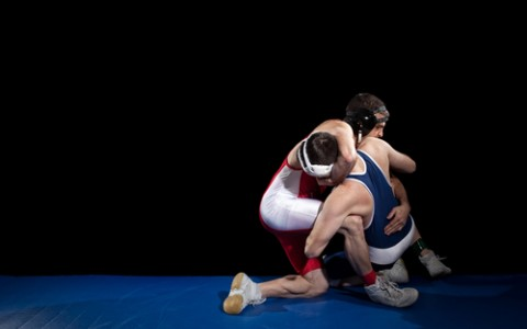 Wrestlers on the Mat