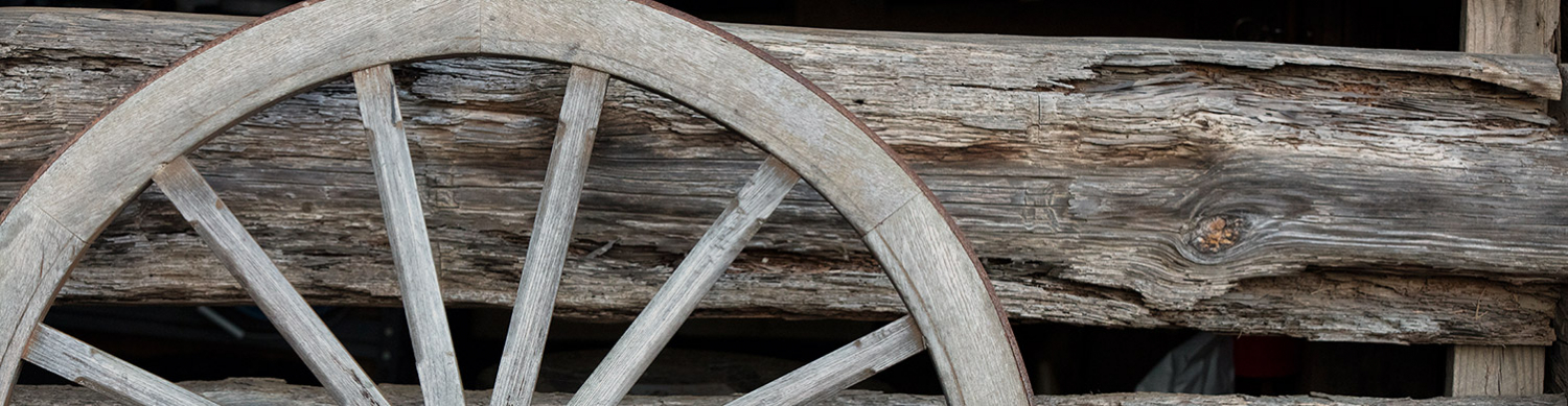 Wooden wheel and wood texture