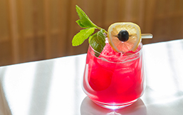 bright pink cocktail