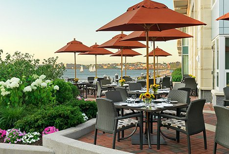 waterfront outdoor dining