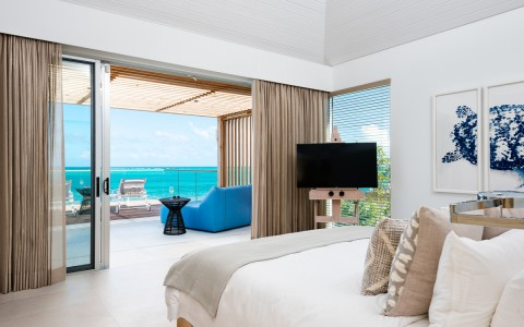 bedroom with stunning ocean view