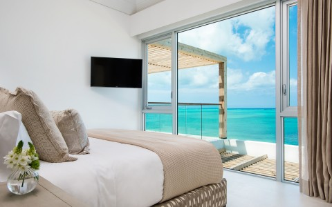 ocean view from inside bedroom