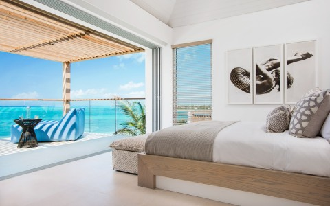 ocean view from inside of bedroom