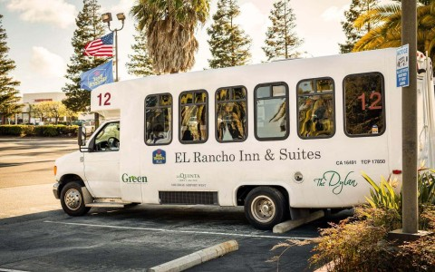 El Rancho Inn & Suites public transportation bus