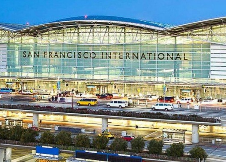 The front of the San Francisco International airport
