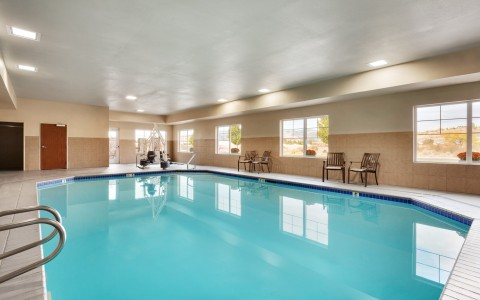 Indoor Pool and Chairs