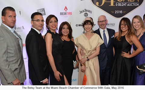 The Betsy Team at the Miami Beach Chamber of Commerce 94th Gala, May