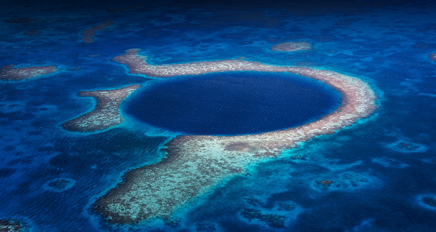view of the famous blue hole diving site