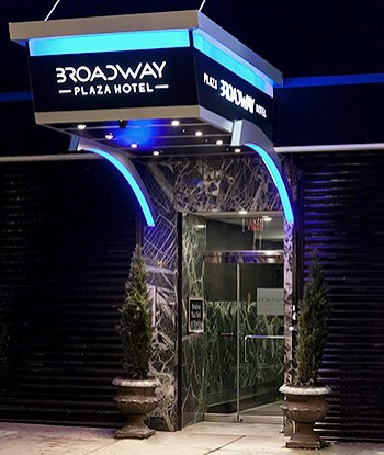 Broadway Plaza Hotel entrance