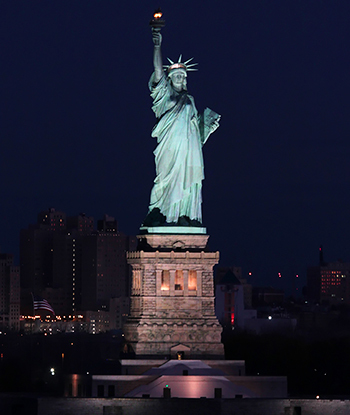 Statue of Liberty New York at night