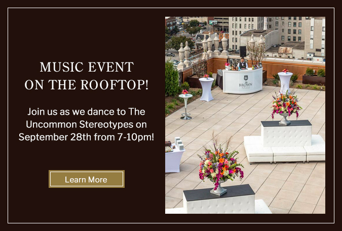 Rooftop music event pop up